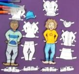 Printable Paper Dolls for Boys & Girls