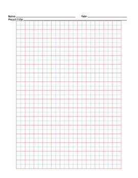 Handwriting grid paper