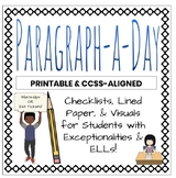 Paragraph-A-Day or PRINTABLE Freewrites Writing - Inclusio