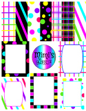 Printable Patterned Papers and Borders Clip Art