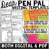 Pen Pal Templates-Enough to last the Whole Year!**Distance Learning**