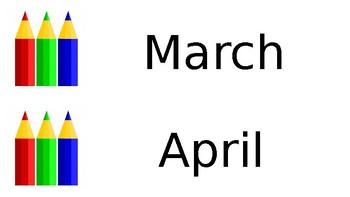 Printable Pencil Calendar
