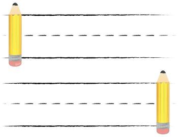 Printable Pencil Label Pack