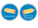 Printable Pencil Labels