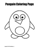 Printable Penguin Coloring Page Worksheet