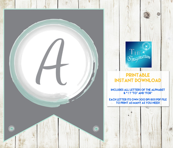Printable Pennant Letters (DIY Banners)