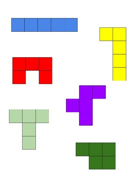 Printable Pentominoes