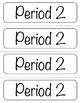 Printable Period Labels