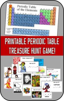 Printable Periodic Table Treasure Hunt Game