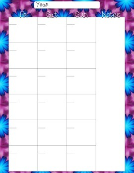 Printable Personal Planner