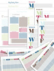 Printable Personal Planner with Sticker Sheets - Stripes - Color Theme #F1-001
