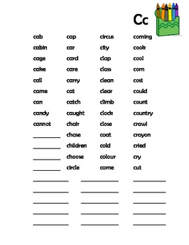 Printable Personal Spelling Dictionary - primary and special education students