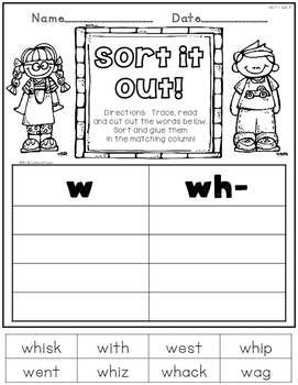 Printable Phonics 2nd Grade! Unit 1, Digraph and Blends Review