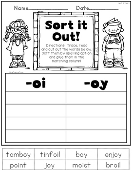 Printable Phonics 2nd Grade! Unit 12, Sounds of oi, oy!