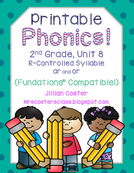 Printable Phonics 2nd Grade! Unit 8, R-Controlled Syllable