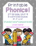 Printable Phonics 2nd Grade! Unit 9, R-Controlled Sounds er, ir, ur!