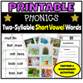Printable Phonics Activities for Two-Syllable Short Vowel Words