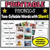 Printable Phonics Activities for Two-Syllable Silent E Words