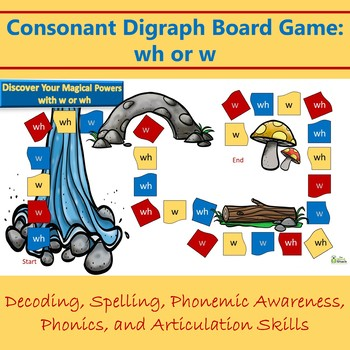Consonant Digraph Game: wh or w