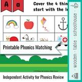 Printable Phonics Matching Activity
