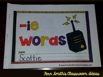 Fifteen Word Family Quick and Easy to Prep Printable Phonics Reading Mini-Books