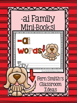 -ai Word Family Quick and Easy to Prep Printable Phonics Reading Mini-Books