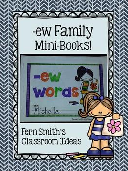 ew Word Family Quick and Easy to Prep Printable Phonics Reading Mini-Books