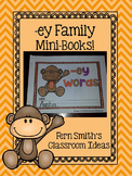 -ey Word Family Quick and Easy to Prep Printable Phonics Reading Mini-Books