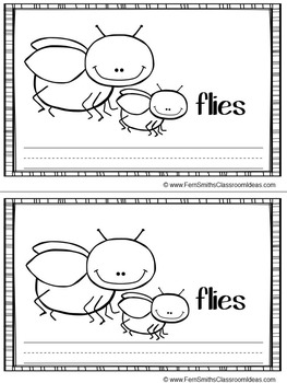 -ie as long i Word Family Quick and Easy to Prep Printable Reading Mini-Books