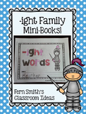 ight Word Family Quick and Easy to Prep Printable Phonics Reading Mini-Books