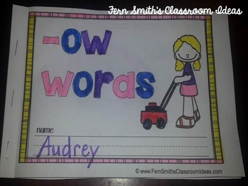 ow Word Family Quick and Easy to Prep Printable Phonics Reading Mini-Books