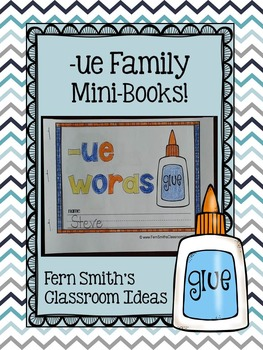 -ue Word Family Quick and Easy to Prep Printable Phonics R