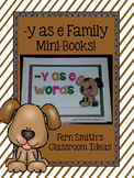 Y as Long E Word Family Quick and Easy to Prep Printable Phonics Mini-Books