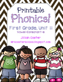 Printable Phonics Pack! 1st Grade, Unit 11, Vowel-Consonant-e! Magic E!