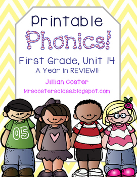 Printable Phonics Pack! 1st Grade, Unit 14, Year in Review!