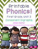 Printable Phonics Pack! 1st Grade Unit 3 Consonant Digraphs! Sh, Ch, Wh, Th, Ck!