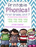 Printable Phonics Pack! 1st Grade, Unit 7, Glued Sounds!