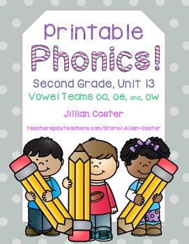 Printable Phonics Pack! 2nd Grade, Unit 13, Vowel Teams! o
