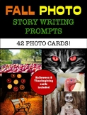 Fall Story Writing Prompt Cards  - Seasonal Creative Photo