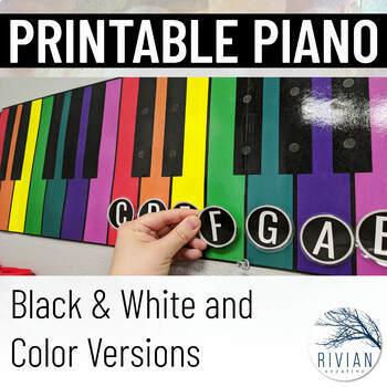 Printable Piano Display