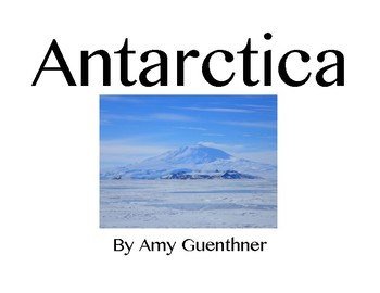 Printable Picture Book About Antarctica