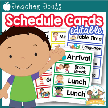 Printable Picture Schedule Cards for Preschool and Kindergarten