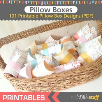 Printable Pillow Box Craft, Quick and Easy Art Project, Pillow Box Templates