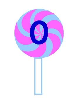 Printable Pink & Blue Swirl Lollipop Blue Numbers