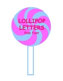 Printable Pink & Blue Swirl Lollipop Pink Letters