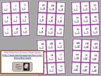 Printable Pink Polka Dot Flash Cards Complete Set