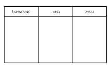 Printable Place Value Blocks