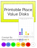 Printable Place Value Disks (Whole Numbers to Millions)