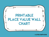 Printable Place Value Wall Chart