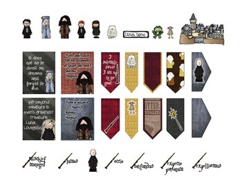Printable Planner Harry Potter Flags and Stickers